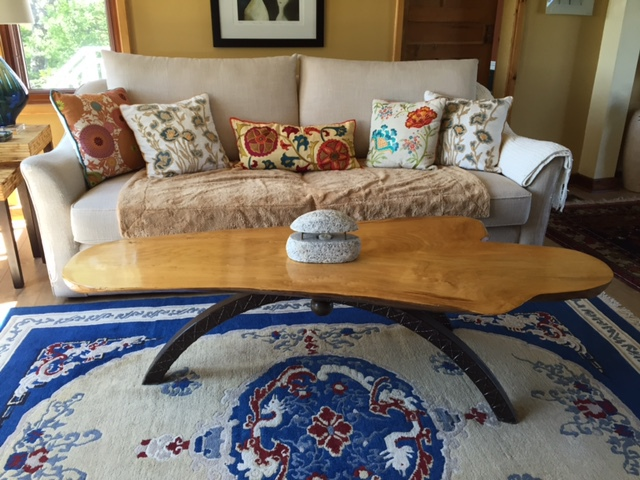 Wood & Wrought Iron Coffee Table