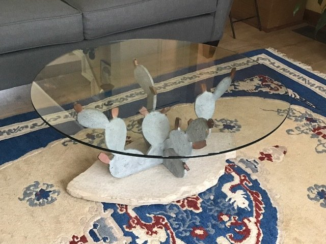 Prickly Pear Cactus Coffee Table